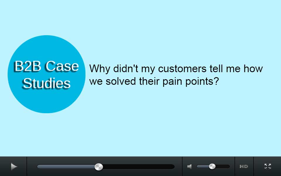 Why didn't my customers tell me how we solved their pain points?